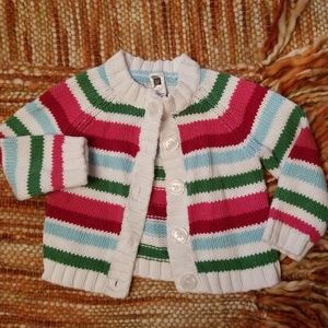 Baby girls 6 12 month gap striped sweater